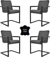 Feel Furniture - Conference stoel set 4 - Donker Grijs