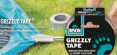 Bison Grizzly tape zilver rol 10 mtr