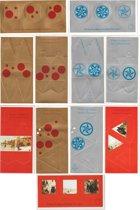Set van 50 Kerstbal Bouw Kaarten met enveloppen - Minimaal 10 verschillende