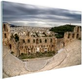 Odeion van Herodes Atticus Athene Glas 180x120 cm - Foto print op Glas (Plexiglas wanddecoratie) XXL / Groot formaat!