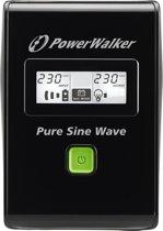 PowerWalker VI 600 SW UPS 600 VA 2 AC-uitgang(en) Line-interactive