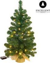 Kerstboom Excellent Trees® LED Jarbo Green 90 cm met verlichting - Luxe uitvoering - 80 Lampjes
