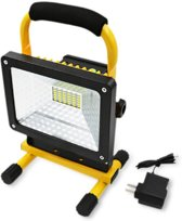 Oplaadbare draadloze draagbare LED werklamp - bouwlamp - 30W - drie standen