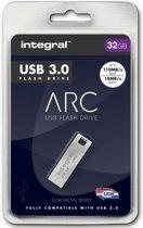Integral 32GB Metal ARC USB 3.0 USB flash drive USB Type-A 3.2 Gen 1 (3.1 Gen 1) Zilver