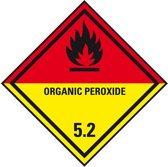 ADR sticker klasse 5.2 'Organische peroxide' met tekst zeewaterbestend