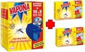 Vapona Anti Mug Apparaat 10 Tabletten + 2 Navuldoosjes 2x30 tabletten