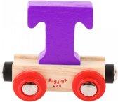Bigjigs - Rails - Naamtrein - Letter T - Oranje