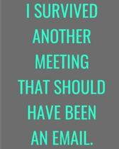 I Survived Another Meeting That Should Have Been An Email.