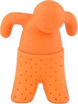 Theefilter Oranje Mr. Tea theemannetje voor losse thee - theezeef / thee-ei / infuser - LeuksteWinkeltje
