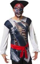 Shirt piraat met masker voor volwassenen
