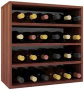 Wijnkast - Voor 24 flessen - noten hout