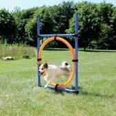 Trixie Dog Activity Agility Ring - Blauw/Oranje - 65 x 3 x 115 cm
