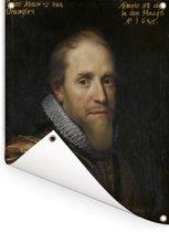 Portret van Maurits prins van Oranje - Schilderij van Michiel Jansz van Mierevelt Tuinposter 60x80 cm - Tuindoek / Buitencanvas / Schilderijen voor buiten (tuin decoratie)