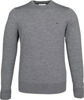 Calvin Klein superior wool crew neck pullover - heren trui wol - middengrijs -  Maat L