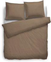 Heckett Lane Uni Stripe - Dekbedovertrek - Tweepersoons - 200 x 200/220 cm - Gold