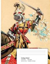 The Medieval Knight - College Ruled Composition Notebook