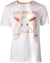 Pok�mon Heren Tshirt -2XL- Eevee Profile Wit
