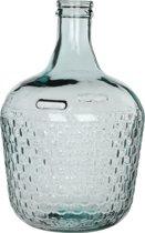 Mica Decorations Diego Weave - Decoratieve Fles - Transparant - h42 cm - Glas