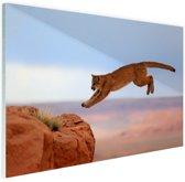 Poema in de bergen Glas 120x80 cm - Foto print op Glas (Plexiglas wanddecoratie)