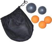 Tunturi Massage Ballen Set, 4 Ballen