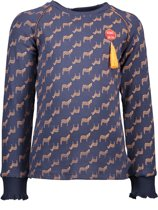NONO Meisjes T-Shirt - Navy - Maat 116