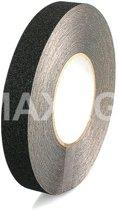 Antislip tape 25 mm breed (ZWART) - 25mm x 18.3 mtr zwart