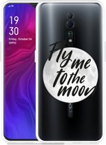 Oppo Reno Z Hoesje Fly me to the Moon