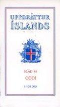 Topographische Karte Island 48 Oddi 1 : 100 000