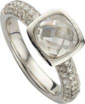 Silventi 943283618 60 Zilveren Ring - met Zirkonia - Vierkant - Zilverkleurig