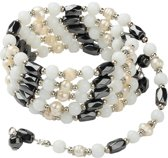 Zoetwater parel armband Pearl Magnetite Wrap