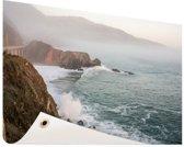 Kliffen Amerika Tuinposter 60x40 cm - klein - Tuindoek / Buitencanvas / Schilderijen voor buiten (tuin decoratie)