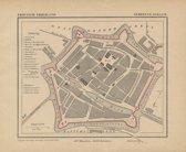 Historische kaart, plattegrond van gemeente Dokkum in Friesland uit 1867 door Kuyper van Kaartcadeau.com