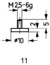 Tastpunt HM 11/10,0mm Käfer