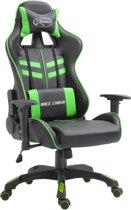 vidaXL Gamingstoel PU groen