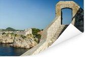Trap naar de stadsmuren Dubrovnik Kroatië Poster 90x60 cm - Foto print op Poster (wanddecoratie woonkamer / slaapkamer)