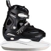 Nijdam 3150 Junior IJshockeyschaats - Verstelbaar - Semi-Softboot - Zwart/Wit - Maat 34-37