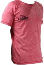 Legend Sports Dryfit Sportshirt Melange Rood Maat Xxl