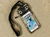 Waterdichte telefoonhoes voor Samsung Galaxy Grand Z met audio / koptelefoon doorgang, zwart , merk i12Cover
