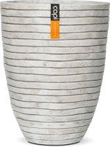 Capi Nature (SET van 2) Vaas elegant laag row II 36x46.5cm Kleur Wit,Grijs,Ivoor tint+ 27x37cm ivoor