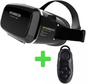 VR SHINECON VR Bril - Black + Bluetooth Gamepad en Remote Control - Black