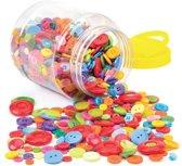 Mega pot met knoopjes voor kinderen. Leuke knutsel- en decoratiesets voor kerst voor jongens en meisjes (per pot)