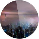 Hongkong | China | Steden | Rond Plexiglas | Wanddecoratie | 90CM x 90CM | Schilderij | Foto op plexiglas