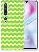 TPU bumper Xiaomi Mi Note 10 Pro Waves Green