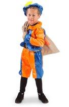 Pietenpak satijn blauw/oranje 6-8 jaar