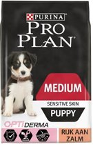 Pro Plan Medium Puppy Sensitive Skin OptiDerma - Zalm - Hondenvoer - 12kg