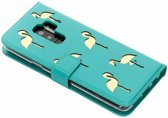 Flamingo Softcase Booktype Samsung Galaxy S9 Plus hoesje - Groen