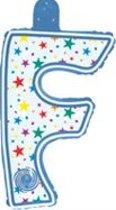opblaasbare letter F multi color