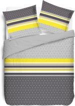 VISION Lisa Yellow - Dekbedovertrek - Tweepersoons - 200x200cm