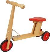Playwood - Houten kinder step met 3 wielen - met zitje