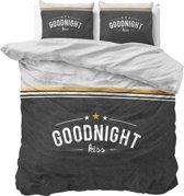 Dreamhouse Goodnight Kiss - Dekbedovertrekset - Lits-Jumeaux - 240x200/220 + 2 kussenslopen 60x70 - Antraciet